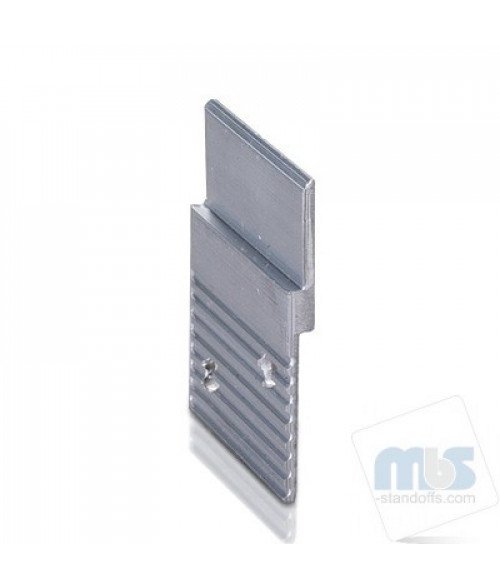 "MBS Aluminum 1-1/2"" Z-Clip (Light to Medium Duty)"
