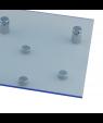 "Rowmark ColorHues Ice Blue 1/8"" Translucent Engraving Plastic"