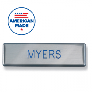"""10 Pack 1/"""" x 3/"""" Name Tag Badge Blanks with Magnetic Backing"""