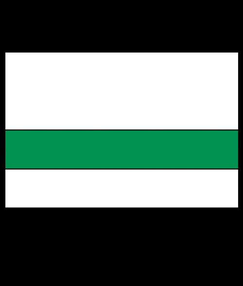 Rowmark Satins White/Green Engraving Plastic
