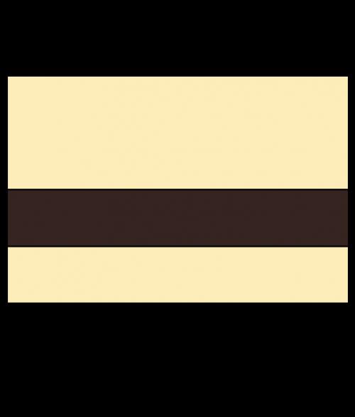 Rowmark Satins Ivory/Dark Brown Engraving Plastic