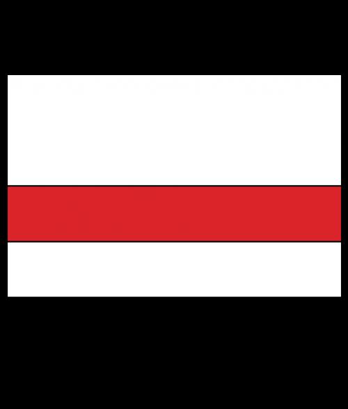 "Rowmark Satins Polar White/Red 1/16"" Engraving Plastic"