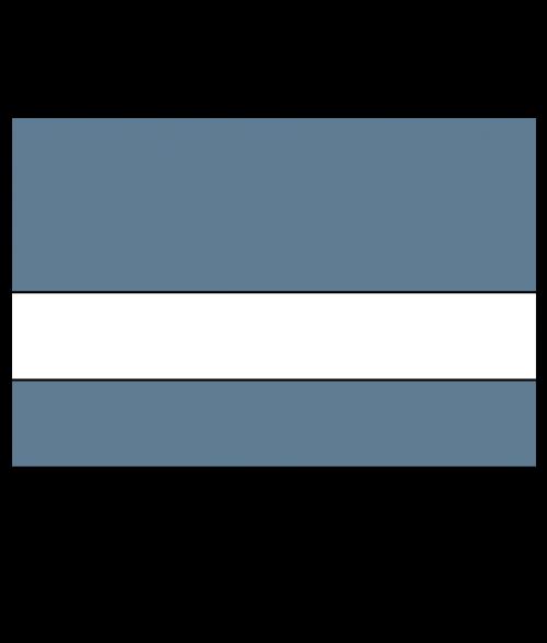 "Rowmark Satins Metallic Blue/White 1/16"" Engraving Plastic"