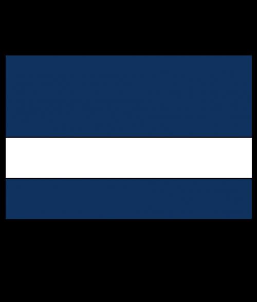 "Rowmark Satins Navy Blue/White 1/16"" Engraving Plastic"