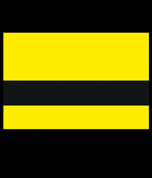 "Rowmark Satins Yellow/Black 1/16"" Engraving Plastic"