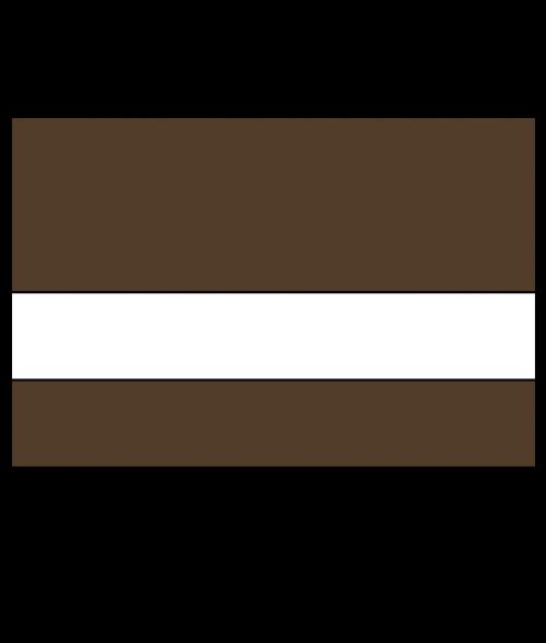 Rowmark Satins Medium Brown/White Engraving Plastic