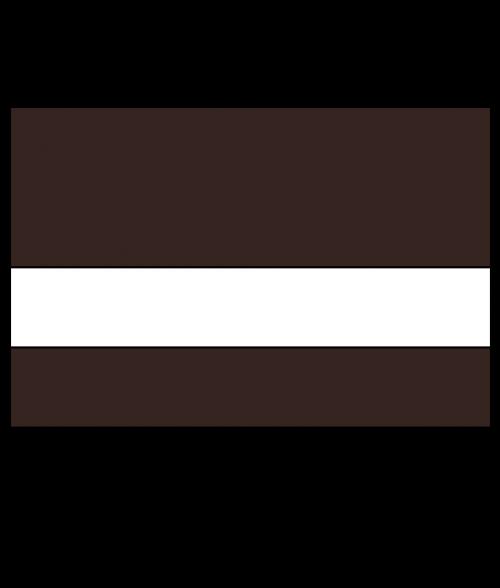 "Rowmark Satins Dark Brown/White 1/16"" Engraving Plastic"