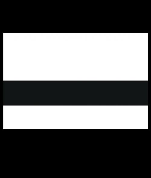 "Rowmark Satins White/Black 3/32"" Engraving Plastic"