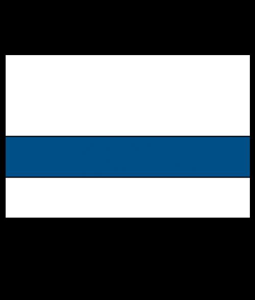 Rowmark Satins White/Blue Engraving Plastic