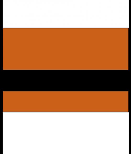 "Rowmark Satins Orange/Black 3/32"" Engraving Plastic"