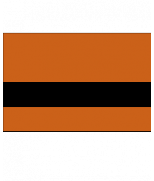 Rowmark Satins Orange/Black Engraving Plastic