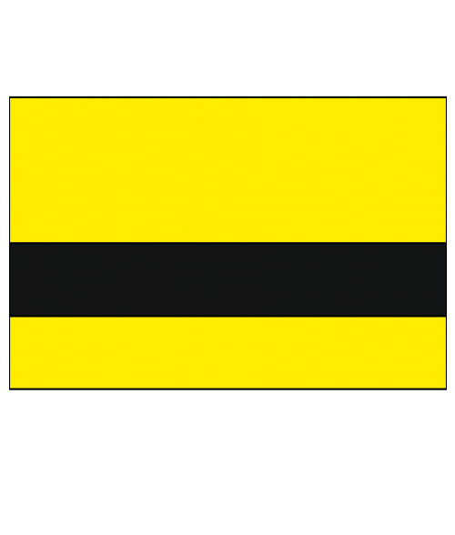 "Rowmark Satins Yellow/Black 3/32"" Engraving Plastic"