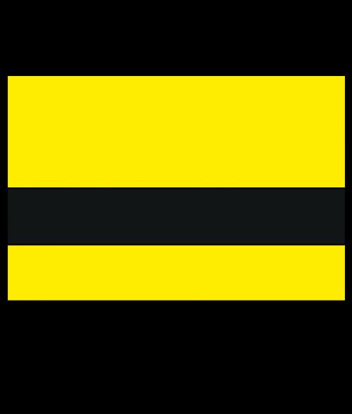 Rowmark Satins Yellow/Black Engraving Plastic