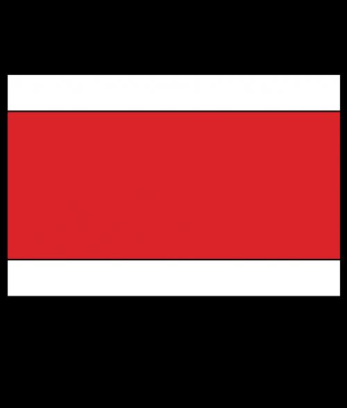 "Rowmark Satins White/Red/White 1/8"" Engraving Plastic"