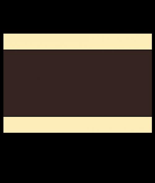 """Rowmark Satins Ivory/Dark Brown/Ivory 1/8"""" Engraving Plastic"""
