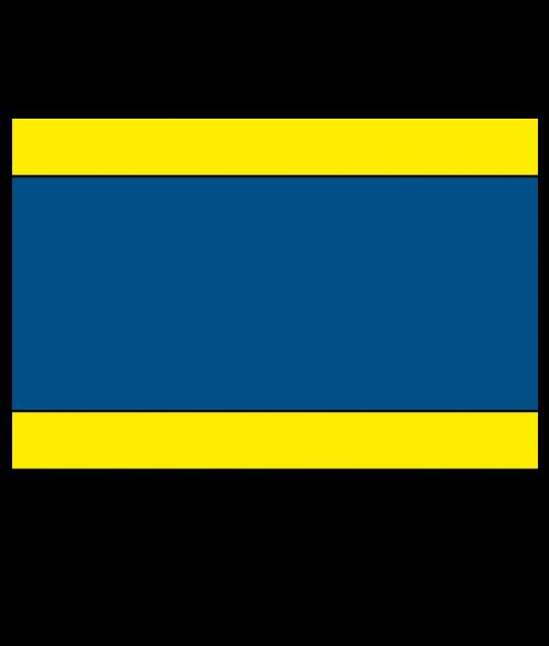 "Rowmark Satins Yellow/Blue/Yellow 1/8"" Engraving Plastic"
