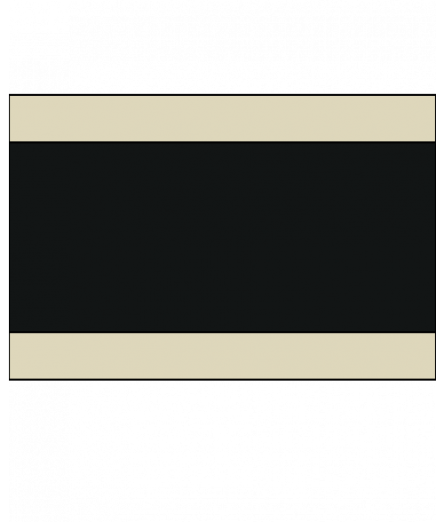 "Rowmark Satins Almond/Black/Almond 1/8"" Engraving Plastic"
