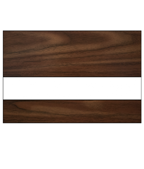 "Rowmark Mattes Walnut/White 1/16"" Engraving Plastic"