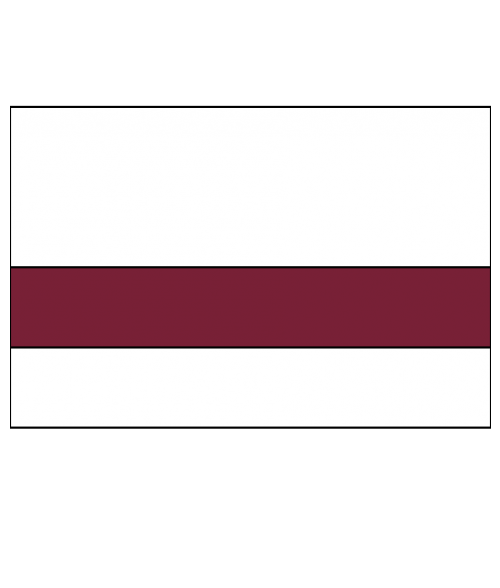 "Rowmark Mattes White/Burgundy 1/16"" Engraving Plastic"