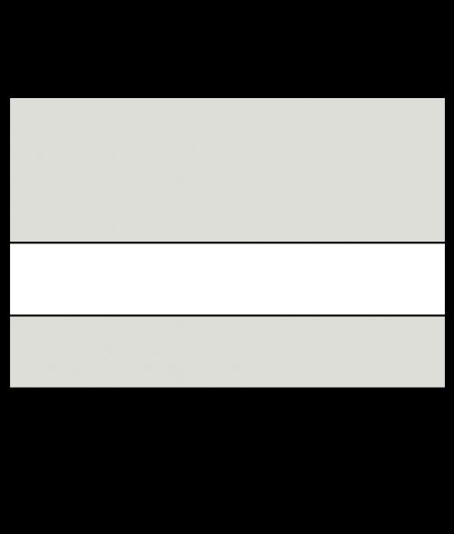 "Rowmark Mattes Light Grey/White 1/16"" Engraving Plastic"