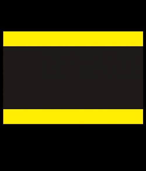"Rowmark Mattes Yellow/Black/Yellow 1/8"" Engraving Plastic"