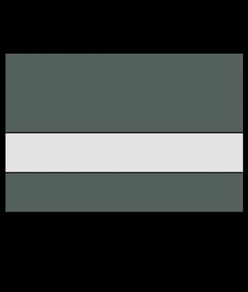 Rowmark ultra matte reverse clear black forest green 1 8 - Plaque pvc transparent ...