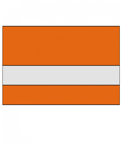 Rowmark Slickers Clear/Orange Reverse Engraving Plastic