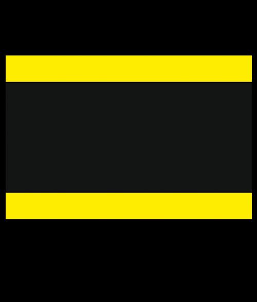 "Rowmark Lacquers Yellow/Black/Yellow 1/8"" Engraving Plastic"
