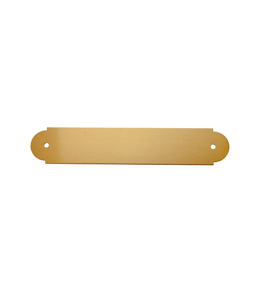 satin gold 3 4 x 4 brass decorative plaque plate johnson plastics plus. Black Bedroom Furniture Sets. Home Design Ideas