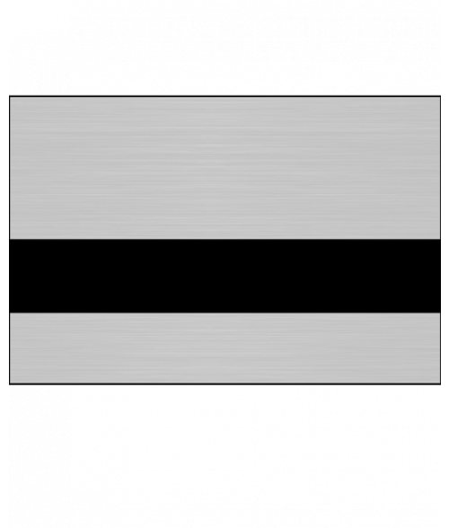 "Rowmark Metals Brushed Silver/Black 1/16"" Engraving Plastic"