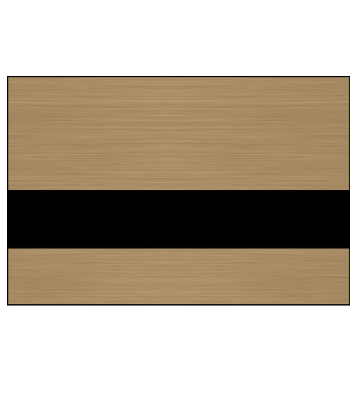"Rowmark NoMark Plus Metals Brushed Copper/Black 1/16"" Engraving Plastic"