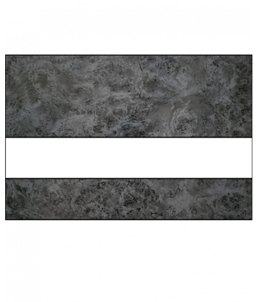 "Rowmark FlexiColor Harbor Grey/White .020"" Engraving Plastic"