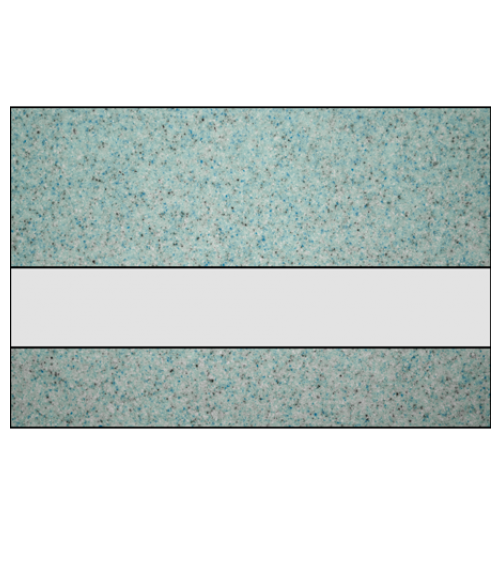 "Rowmark Granites Deluxe Matte Clear/Glacial Blue 1/8"" Reverse Engraving Plastic"