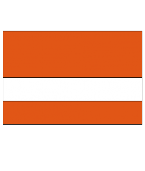 "Rowmark Textures Tangerine/White 1/16"" Engraving Plastic"