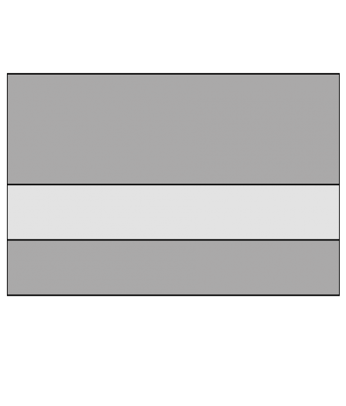 "Rowmark LaserMark Reverse Matte Clear/Grey 1/16"" Engraving Plastic"