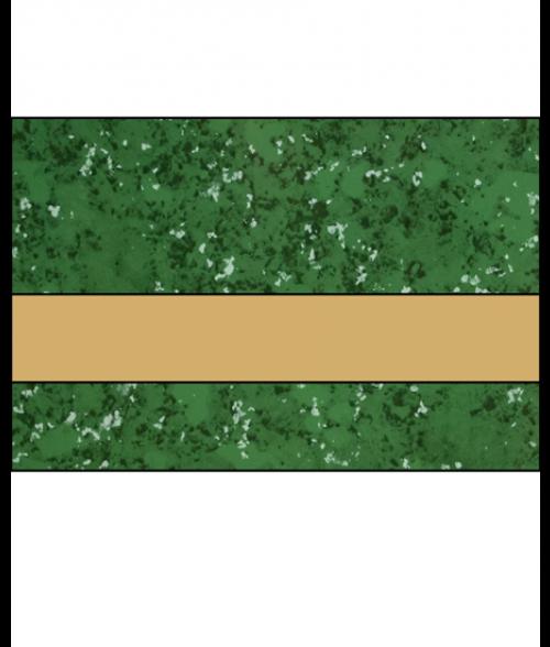 """Rowmark LaserMark Gloss Verde Green/Gold .052"""" Engraving Plastic"""