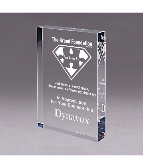Clear Acrylic Block Award