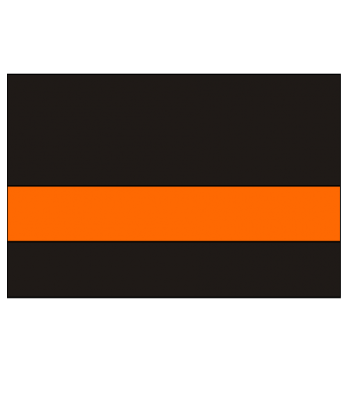 "IPI Blacklites Black/Awesome Orange 1/16"" Engraving Plastic"