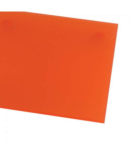 Rowmark ColorHues Poppy Translucent Engraving Plastic