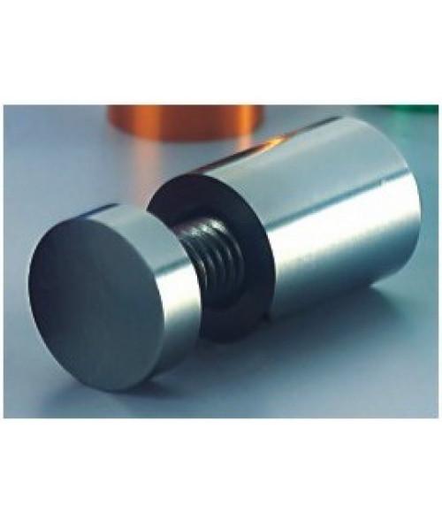 "JRS Prestige Collection Polished Silver Aluminum Stand-off (.50"" Diameter .75"" Barrel Length)"