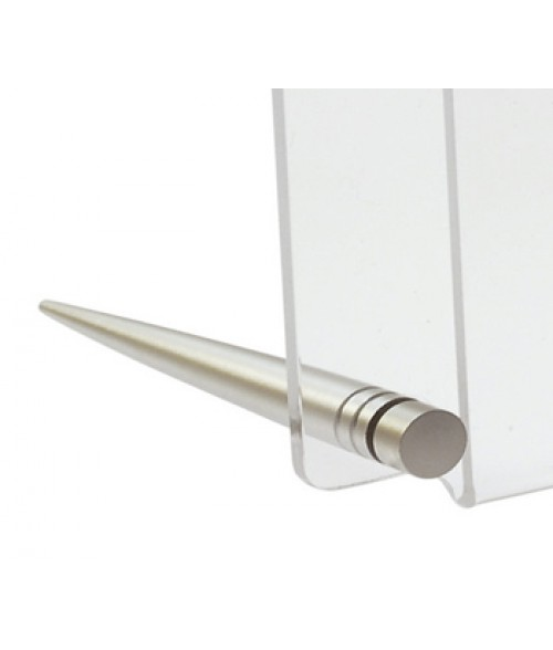 "Rowmark Fisso Desk Satin Silver Easel Display System (Cap Diameter .35"" / Barrel Length 2.76"") (2 piece Set)"
