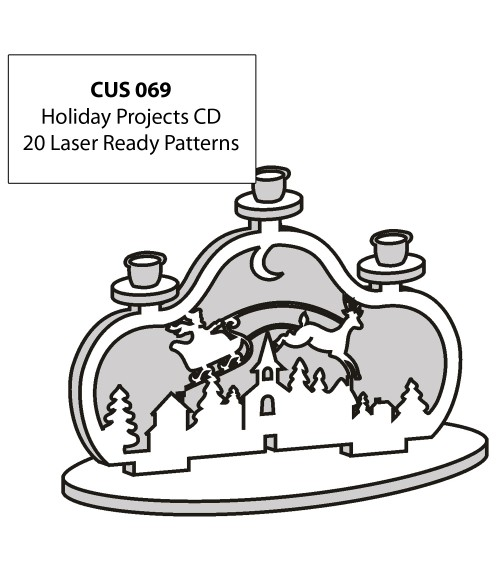 LaserBits CorelDRAW Design Patterns (Holiday Projects)