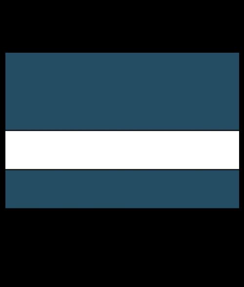 "IPI Euro Color Matte Shadow Blue/White 1/16"" Engraving Plastic"