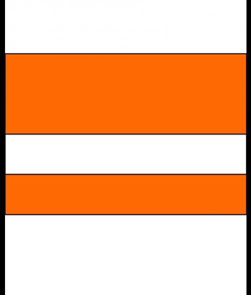 """IPI Electrics Awesome Orange/White 1/16"""" Engraving Plastic ..."""
