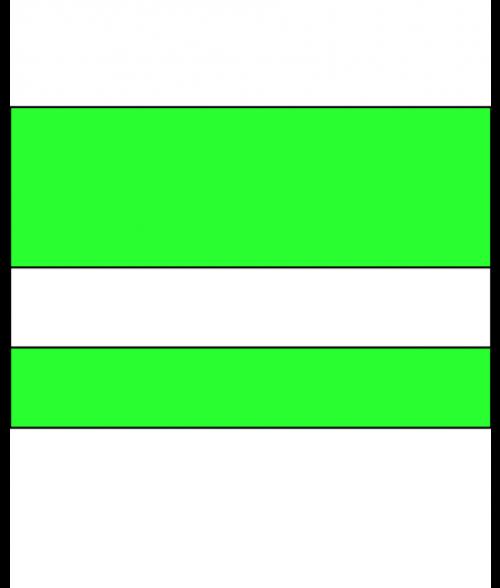 "IPI Electrics Radical Green/White 1/16"" Engraving Plastic"