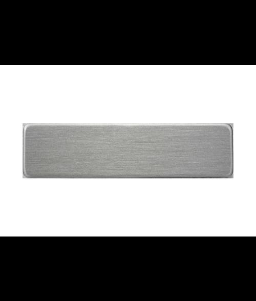 "Satin Silver 5/8"" x 2-1/2"" Premium Metal Name Tag with ..."