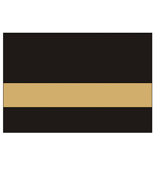 "IPI Gold Coast Gloss Black/Bright Gold 1/16"" Engraving Plastic"