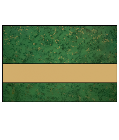 "IPI Gold Coast Gloss Verde Green Gold Fleck/Bright Gold 1/32"" Engraving Plastic"