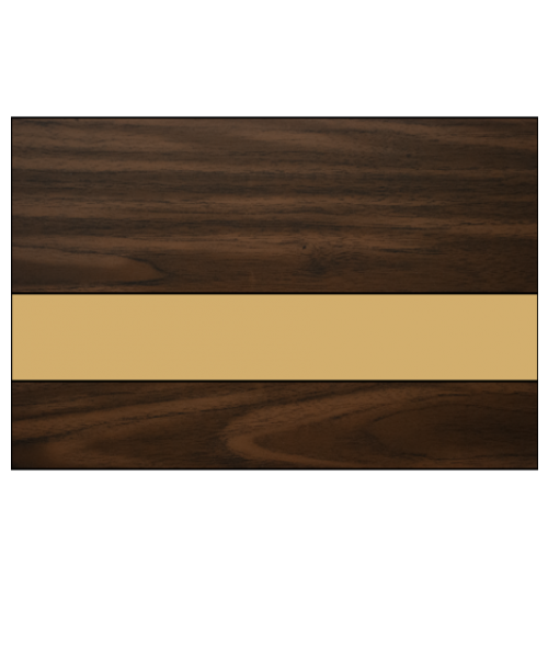 "IPI Gold Coast Matte Dark Walnut/Bright Gold 1/16"" Engraving Plastic"
