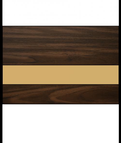 "IPI Gold Coast Matte Dark Walnut/Bright Gold 1/16"" Engraving Plastic"